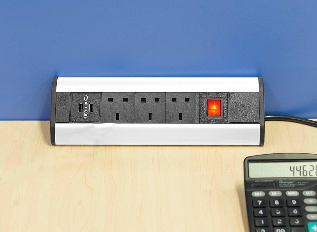 Clamp On Desk Mount Power Strip Innovative Design With Robust Materials